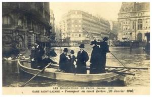Janvier 1910, devant la Gare St-Lazare...