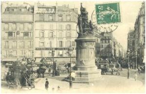 Vers 1910, place de Clichy...