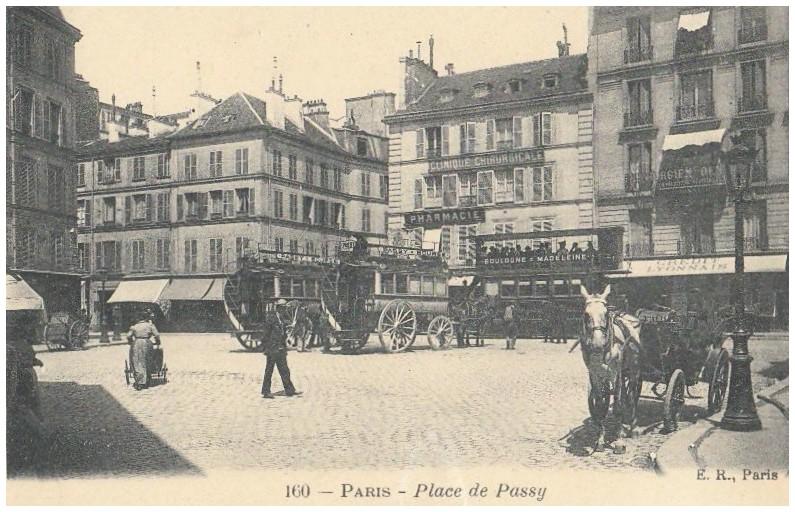 La place de l'ancien village de Passy... place-de-passy