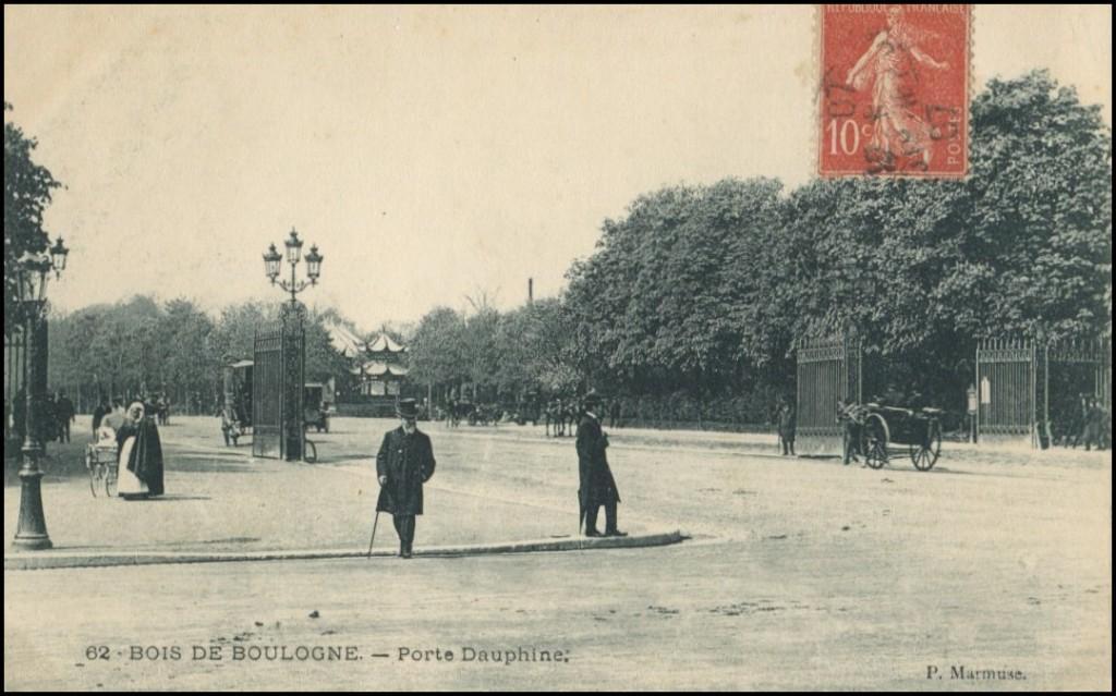 Deux portes donnant sur le Bois de Boulogne... porte-dauphine
