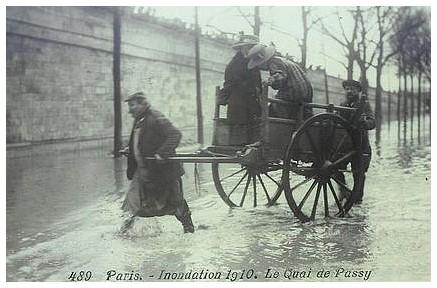 Retour sur l'inondation de Janvier 1910 (16ème, Passy et Auteuil). quai-de-passy1