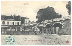 La Poterne Montempoivre (12ème) et le chemin de ferde ceinture en 1906