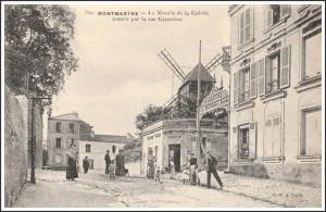 Le Moulin de la Galette vers 1908...