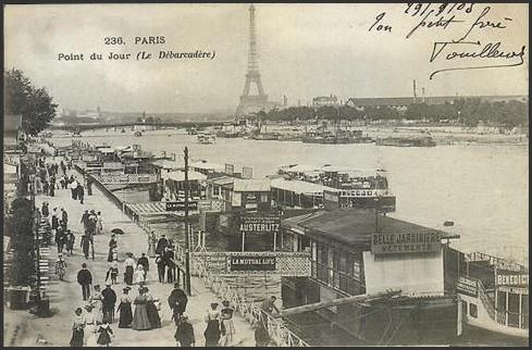 Deux vues du quai du Point-du-Jour... pdj