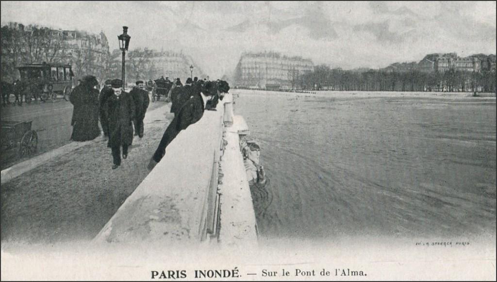 Encore à propos de l'inondation de janvier 1910... pont-alma-jan-11910