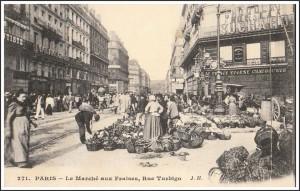 Le marché aux fraises, rue de Turbiho...
