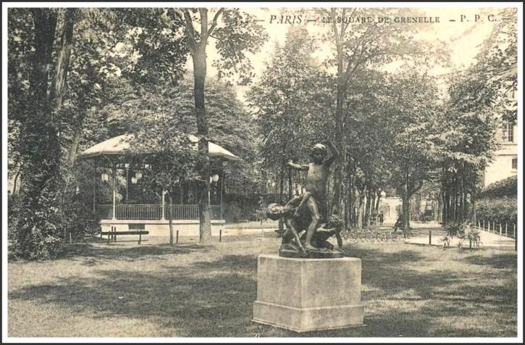 Les 2 statues disparues du square Violet... square_violet_cp_1910