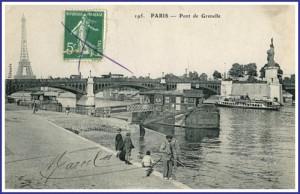 Une vue du pont de Grenelle dans les années 1910...