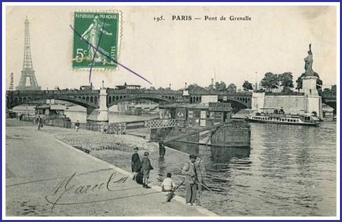 Une vue du Pont de Grenelle dans les années 1910... pdg