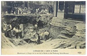 Éboulement suite au très gros orage du 15 juin 1914...