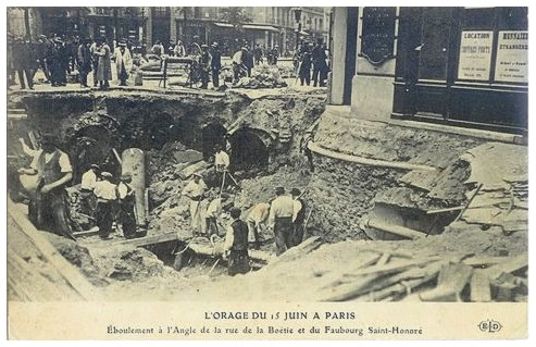 15 juin 1914... orage-15-juin-1914.-eboulement-angle-rue-la-boetie-et-fgsh