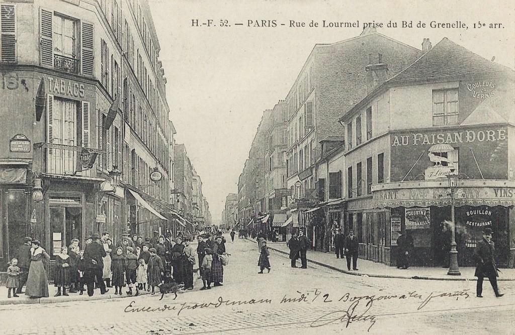 Au carrefour de la rue de Lourmel... lourmel
