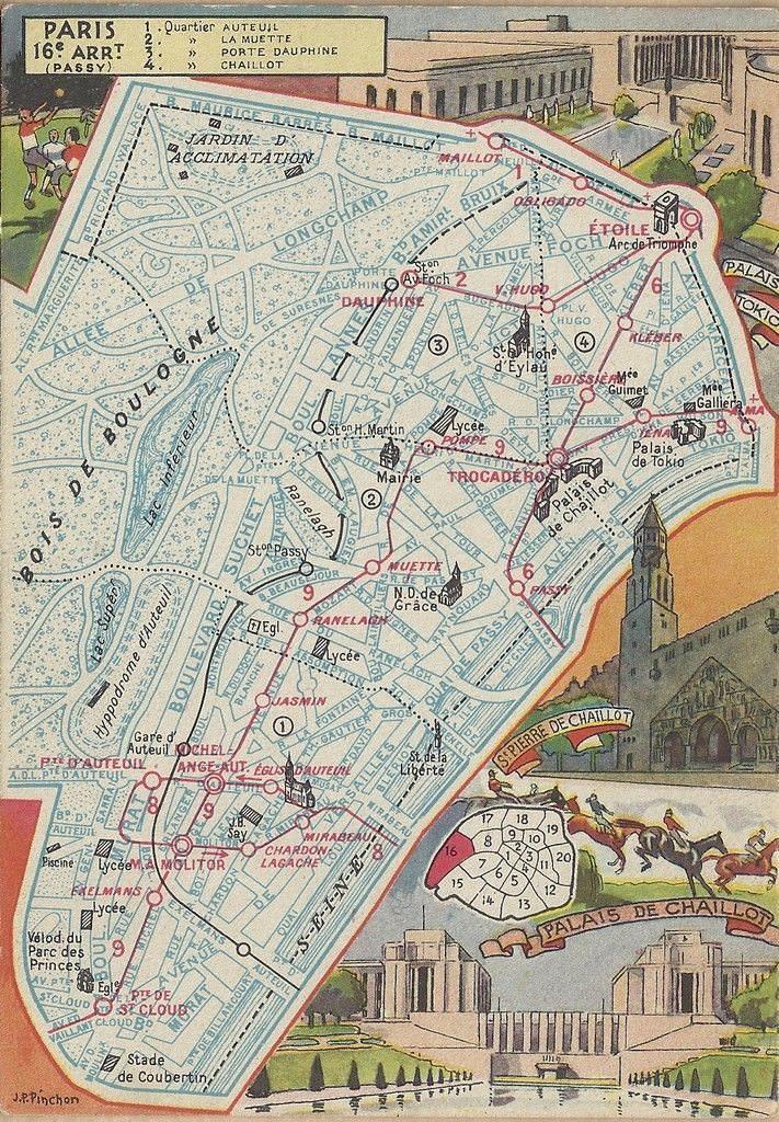 Le 16ème arrondissement... plan-16eme-1946