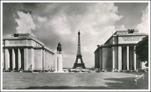 La place du Trocadéro dans les années 1950...