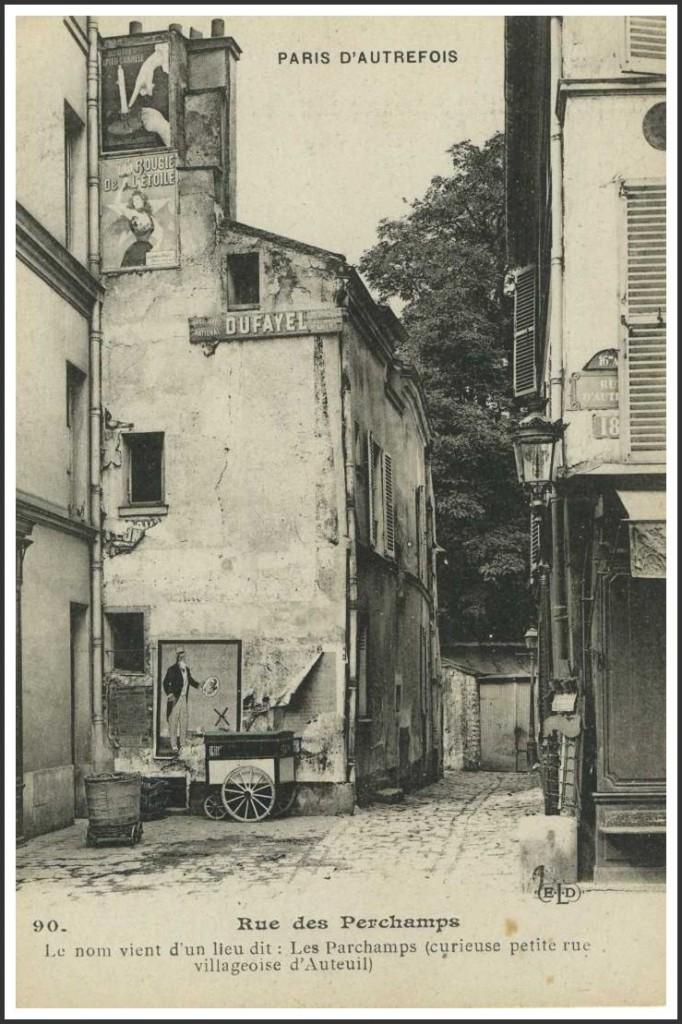 La rue des Perchamps (16ème). 18-auteuil-rue-des-perchamps