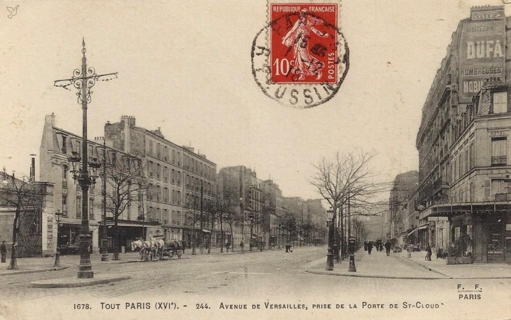 Avenue de Versailles (16ème). Complément. av1