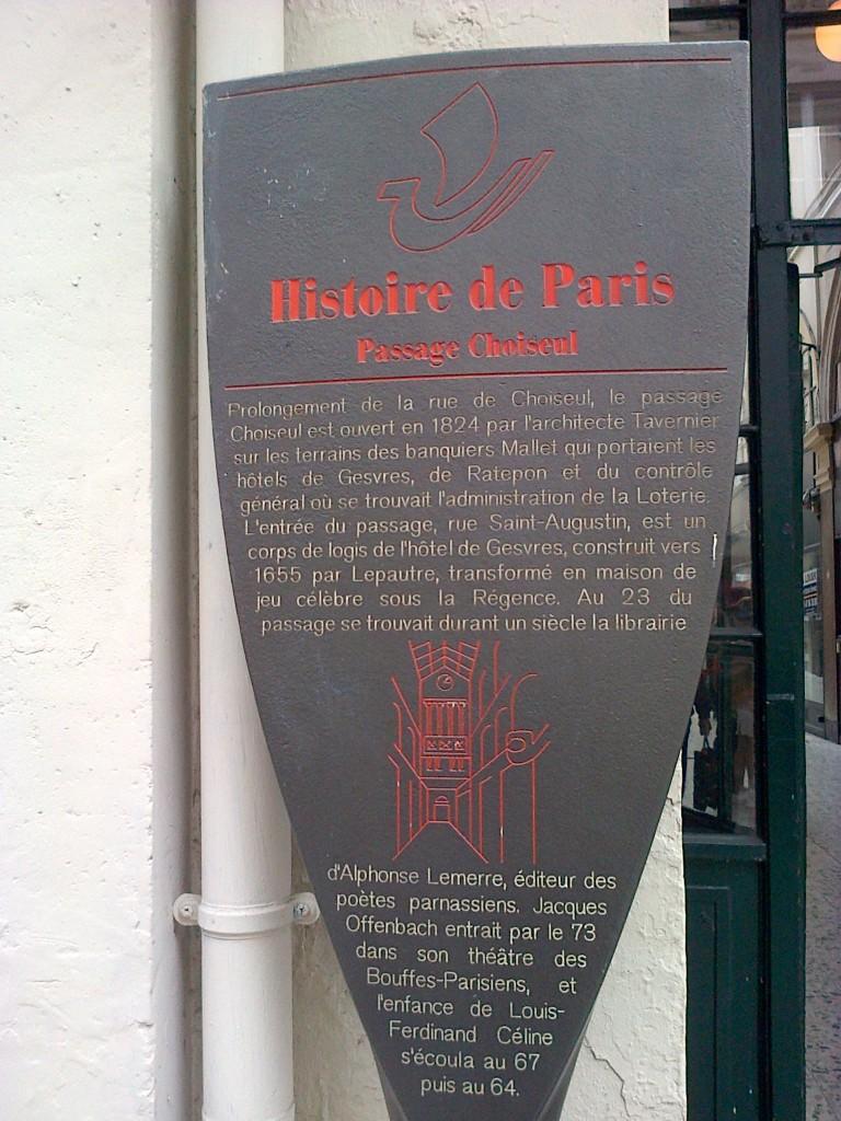 Le méconnu Passage [de] Choiseul (2ème arrondissement). choiseul