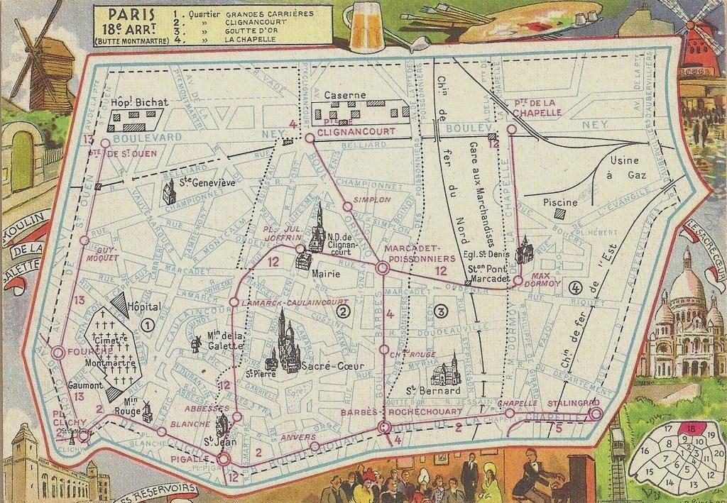 Un coup d'oeil sur le dix-huitième arrondissement... plan-18