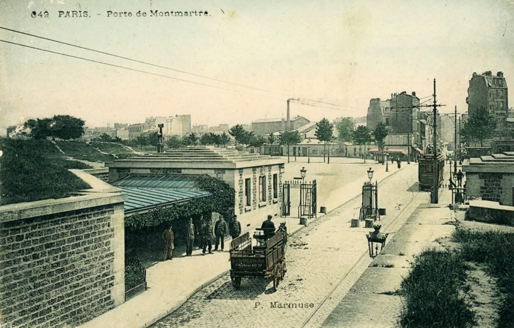 Une rare vue de la Porte-Montmartre... porte-montmartre