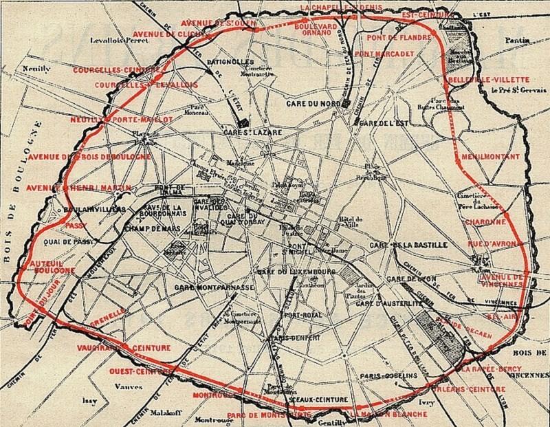 Le réseau de la Petite-Ceinture en 1911. reseau-petite-ceinture-en-1911