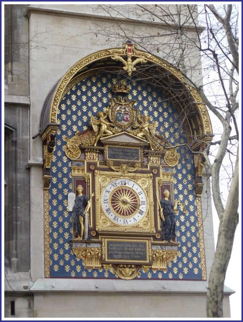 L'horloge de la tour du Palais de Justice (4ème). snb19908