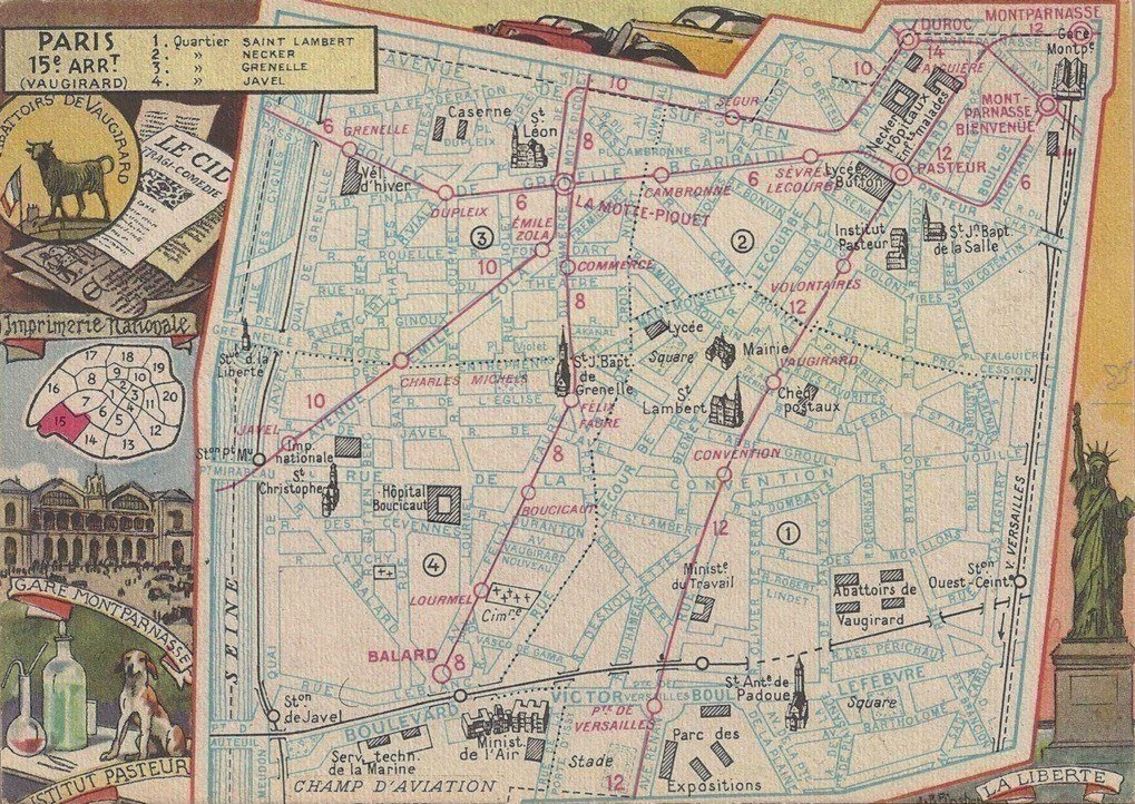 Le 15ème arrondissement... plan-15eme-1946
