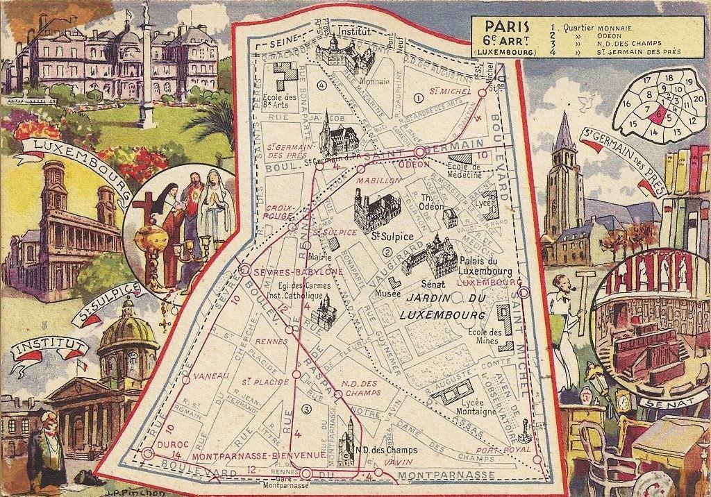 Le sixième arrondissement à vol d'oiseau... p6-1946
